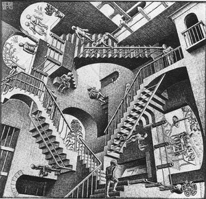 エッシャー階段模写画像