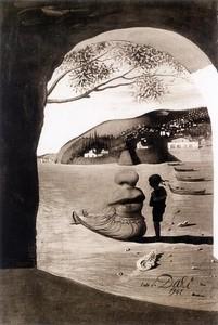 擬人的絵画トリックアートだまし絵画像