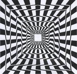 目の錯覚線トリックアートだまし絵画像
